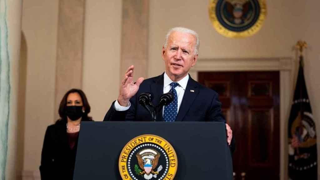 Joe Biden, presidente de Estados Unidos, y la vicepresidenta, Kamala Harris, en la Casa Blanca.