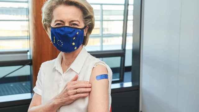 Ursula von der Leyen recibió la primera dosis de Pfizer-BioNTech el 15 de abril