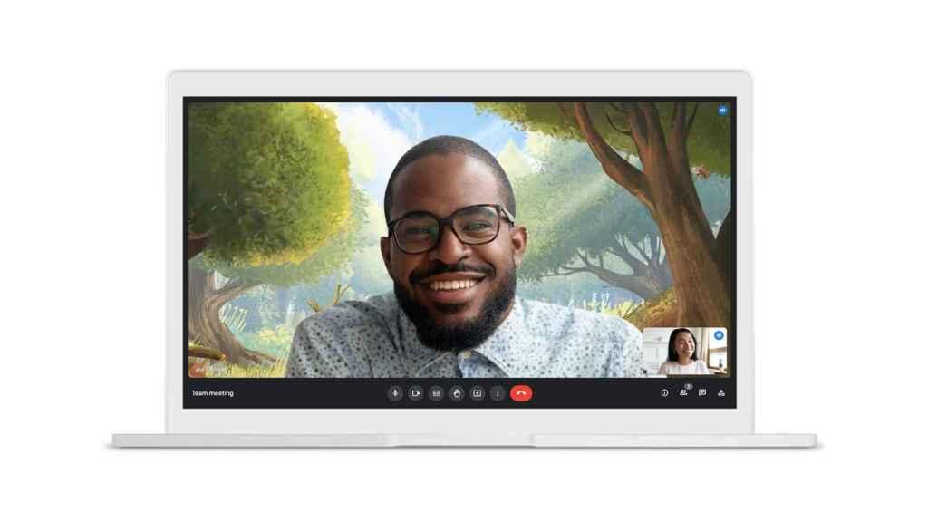 Google Meet nos permitirá tener vídeos de fondo