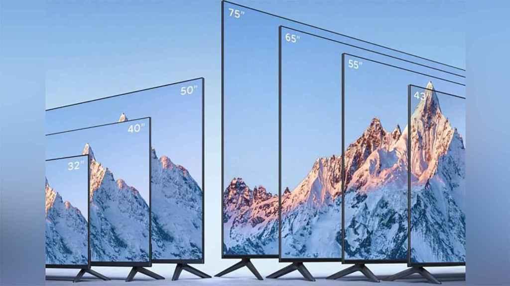 Tamaños de los nuevos televisores.