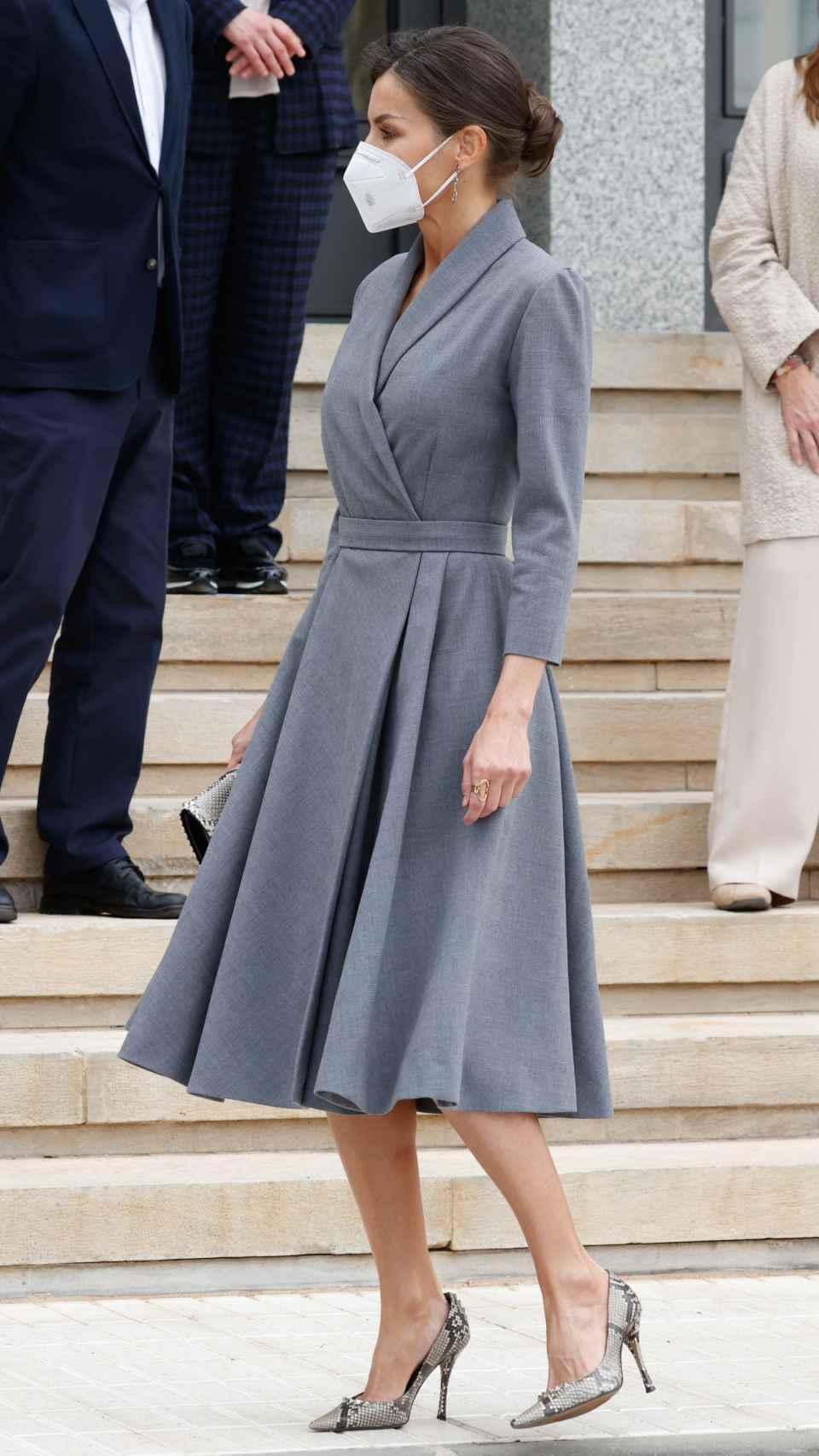 El 'outfit' de la Reina para viajar a Cartagena este jueves.