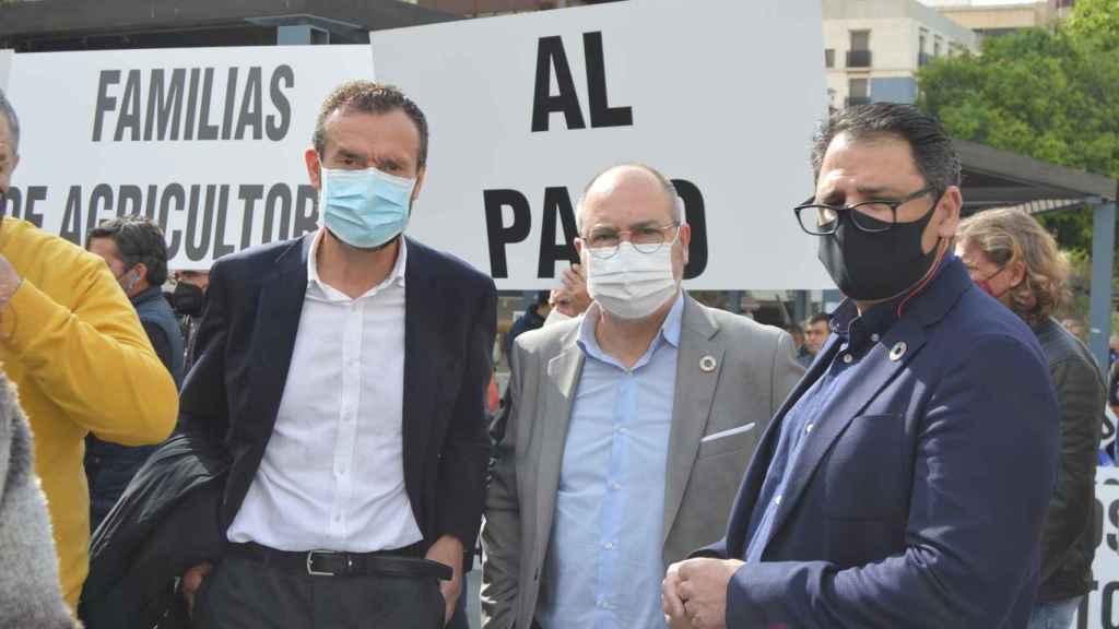 Los alcaldes del PSOE, en el acto que ha tenido lugar en Alicante