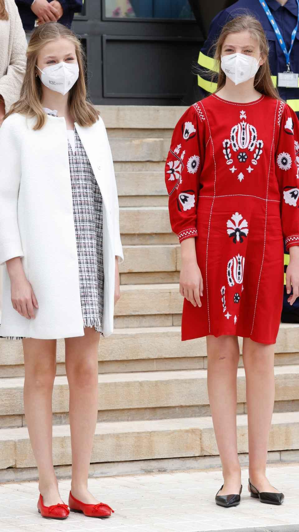La princesa de Asturias luciendo el modelo Camelia Coco de Mathildas Shoes.