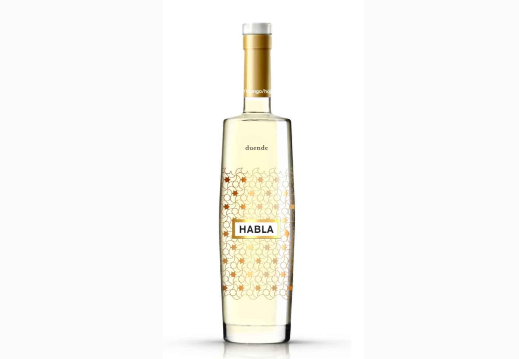 La botella de Habla Duende se inspira en la Alhambra de Granada.