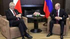 El presidente de la República Checa y su homólogo ruso.