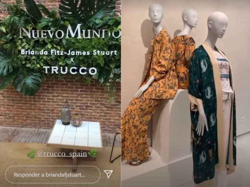 Imágenes de redes sociales de la presentación de la colección de Brianda para Trucco.