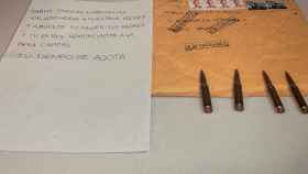 La amenaza recibida por Iglesias con las balas.