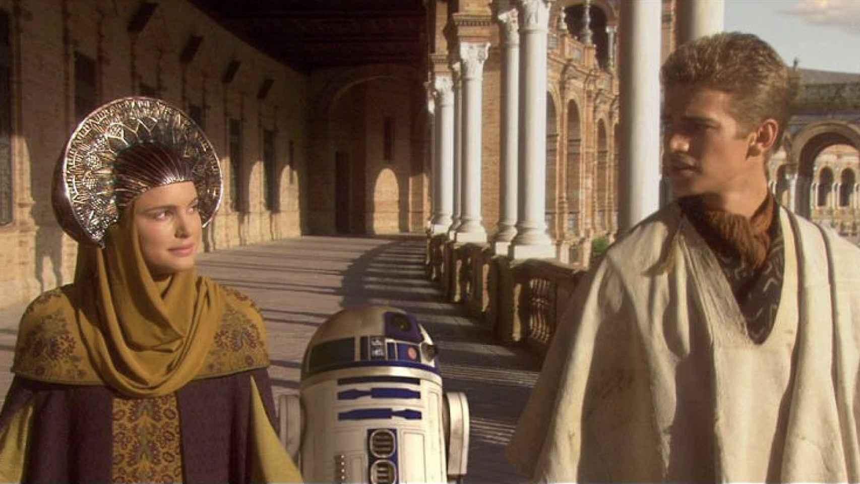 Escena de 'Star Wars: El ataque de los clones'.