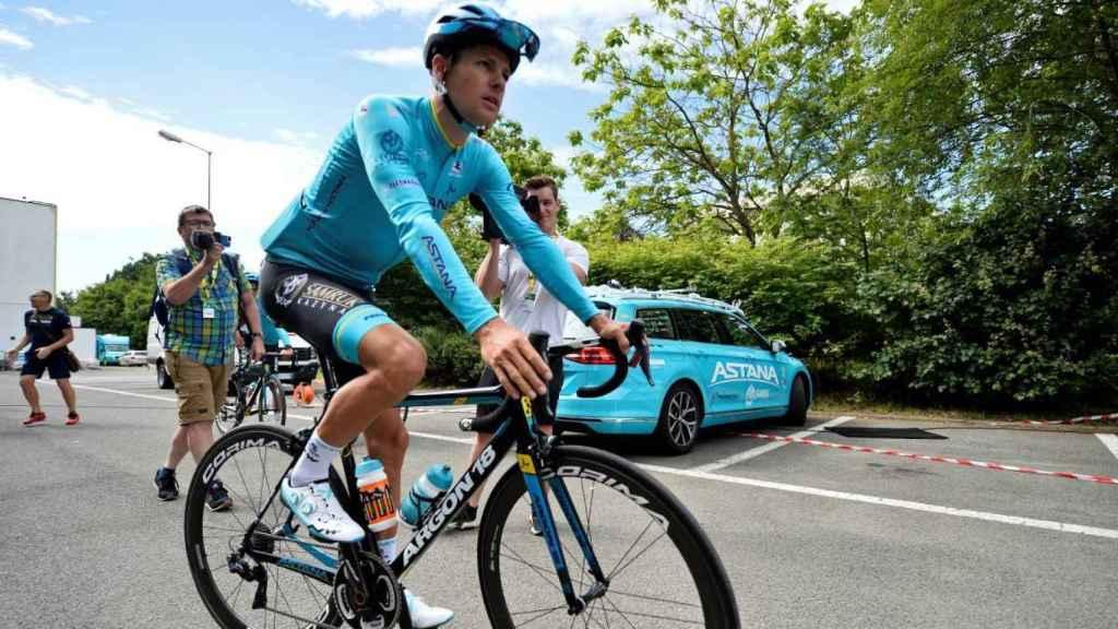 Jakob Fuglsang, ciclista del equipo Astana