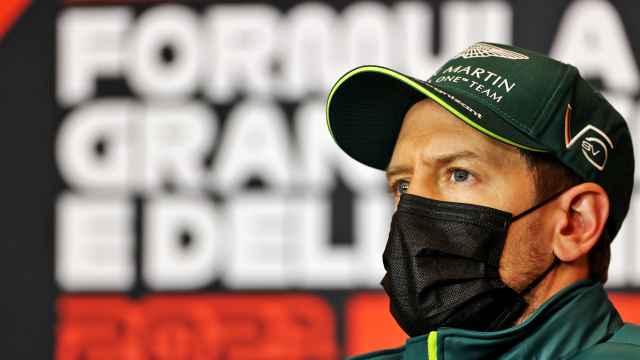 Vettel en la rueda de prensa del Gran Premio de la Emilia Romaña