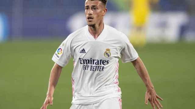 Antonio Blanco, durante un partido con el Real Madrid