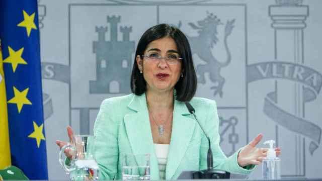 La ministra de Sanidad, Carolina Darias, este miércoles en la rueda de prensa posterior al Consejo Interterritorial de Salud. Foto: EUROPA PRESS/R.Rubio