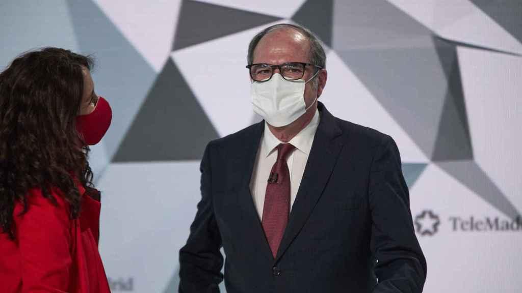 El candidato del PSOE a la Presidencia de la Comunidad de Madrid, Ángel Gabilondo, durante el debate.