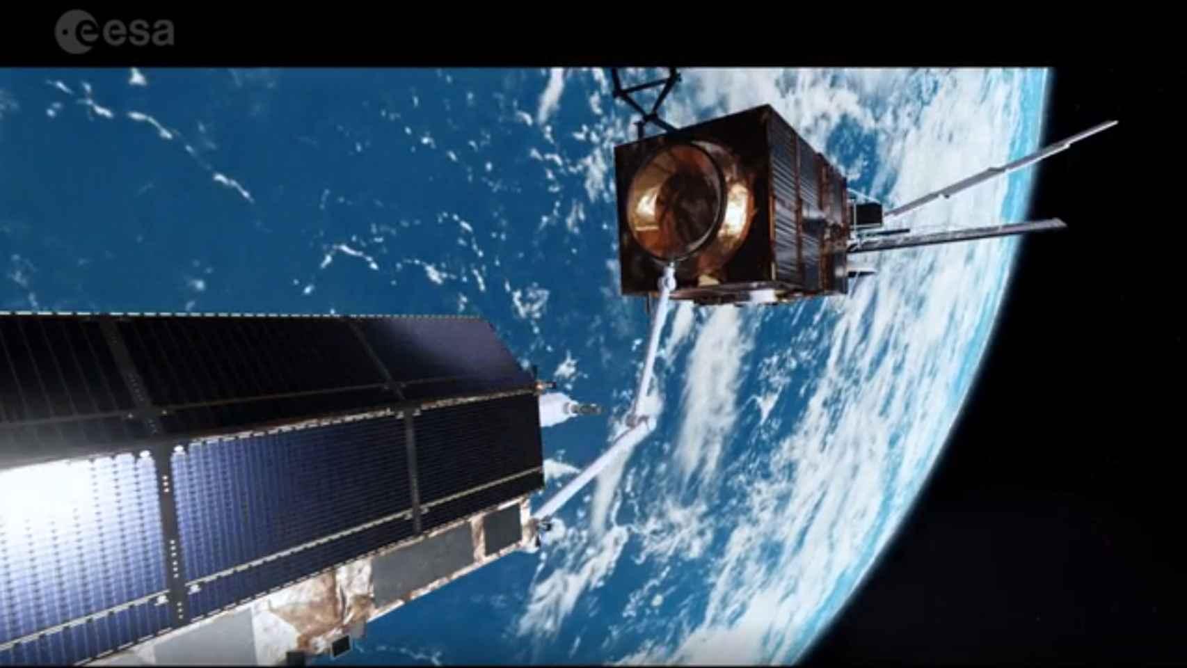 Un sistema de láser para descolocar la basura espacial, propuesto por la ESA.
