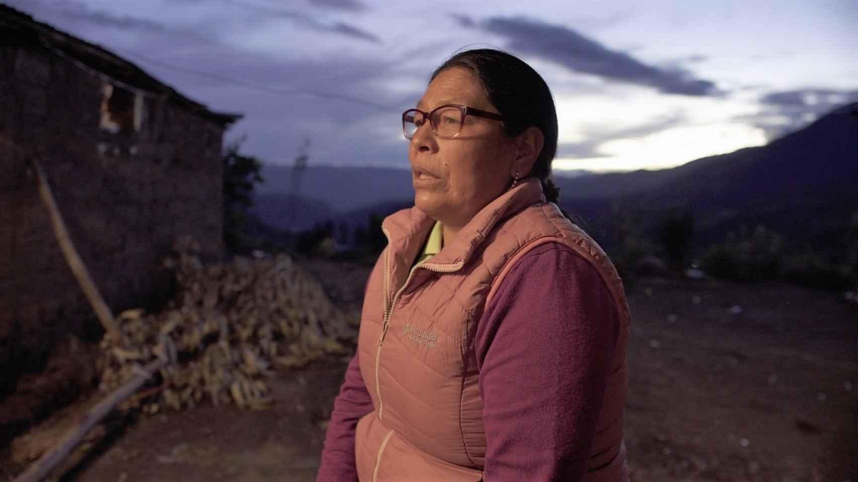 Rute Zúñiga, en Pampaconga, Limatambo, Anta, Cusco. Marzo, 2021.