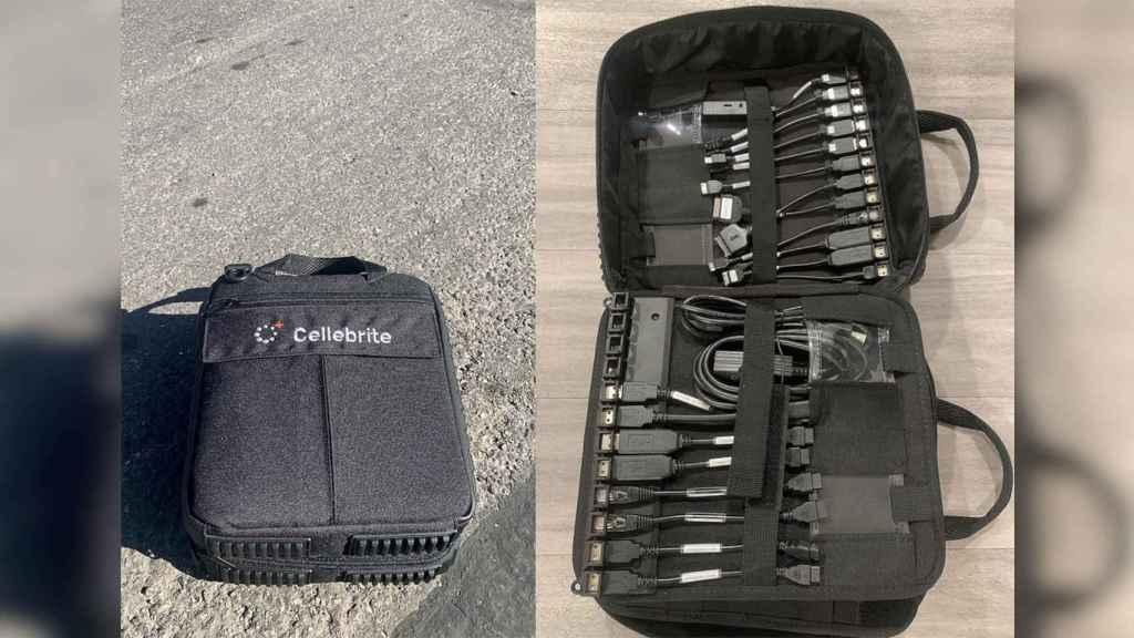 La bolsa de Cellebrite con herramientas para hackear móviles