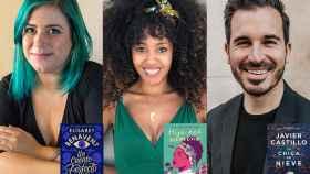 Elísabet Benavent, Lucía-Asué Mbomío y Javier Castillo, autores de las novelas que adaptará Netflix España.