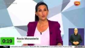 Rocío Monasterio durante ese momento televisivo.