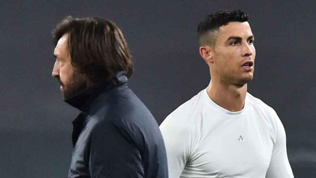 Pirlo e Cristiano Ronaldo