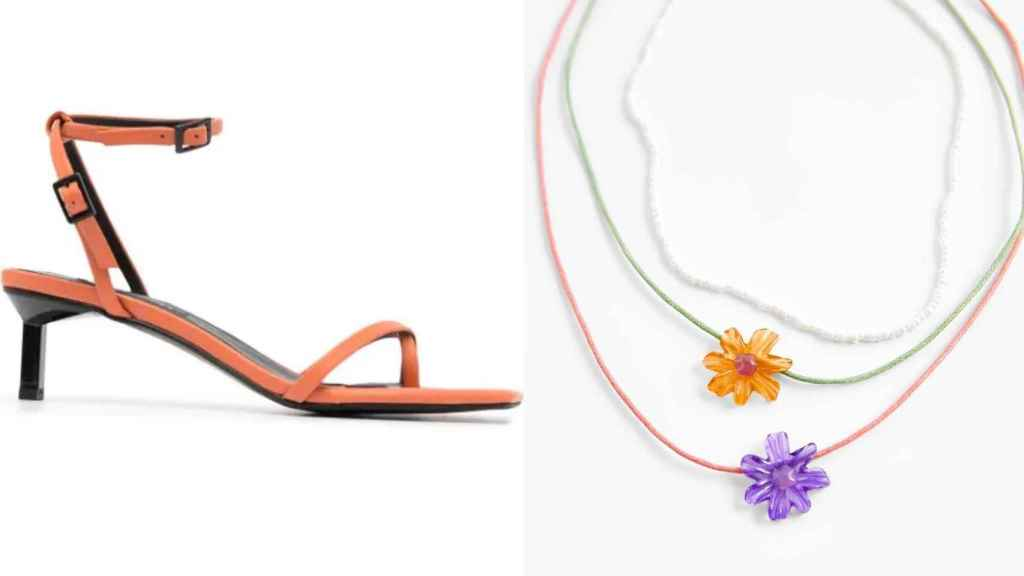 La 'influencer' optaba por unas sandalias de la marca Senso  y unos collares de Zara para brindar un toque de color al 'look'.
