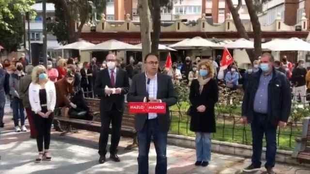 Momento en el que Santiago Llorente pronuncia las polémicas declaraciones