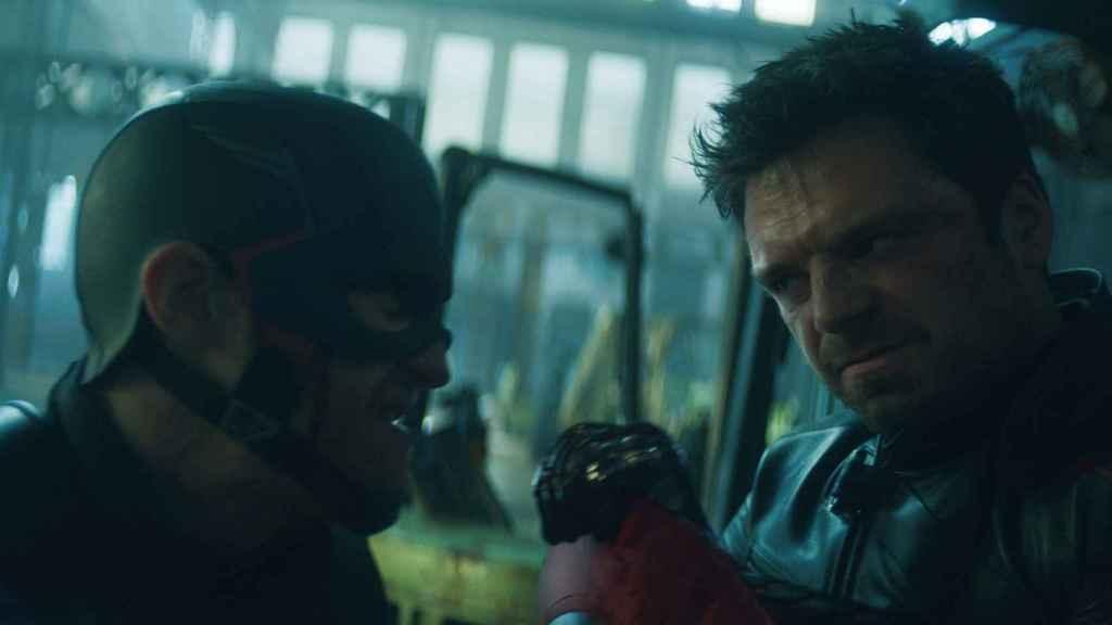 El falso Capitán América y el Soldado de Invierno.