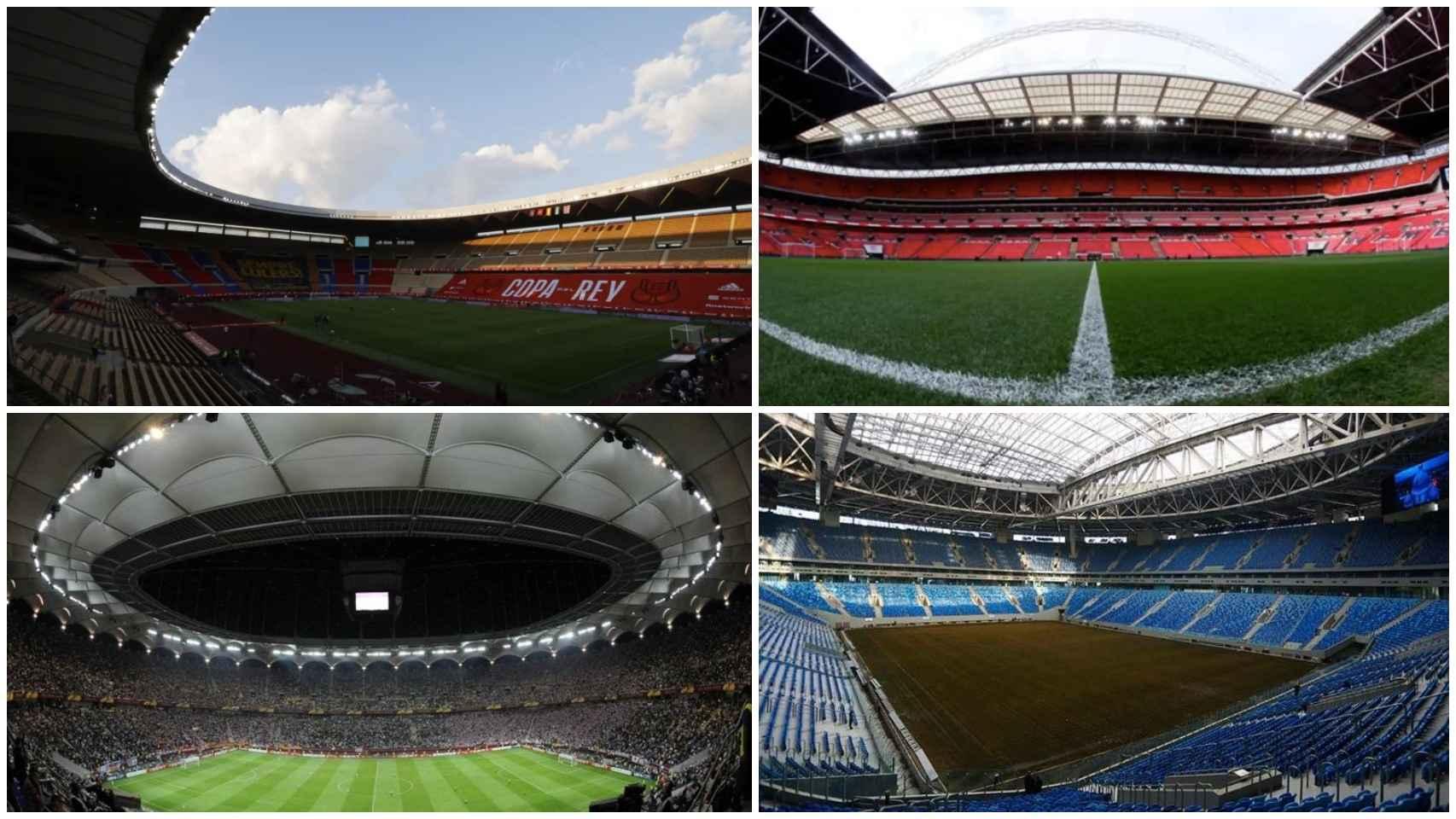 Las sedes de la Eurocopa