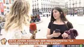 Captura del momento de la entrevista viral en Telemadrid.