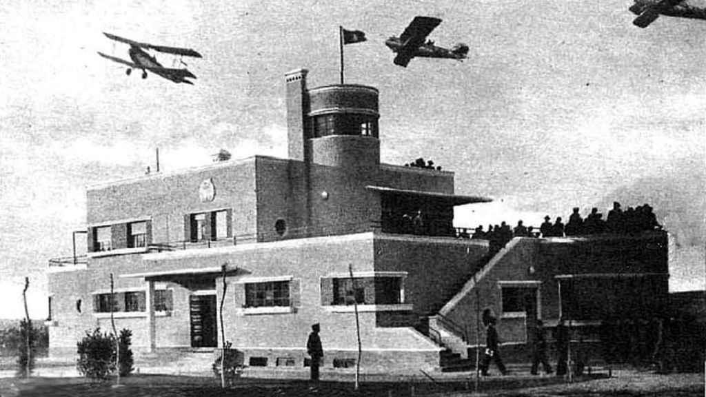 Aeropuerto de Madrid-Barajas 1931. Fuente: Mitma.