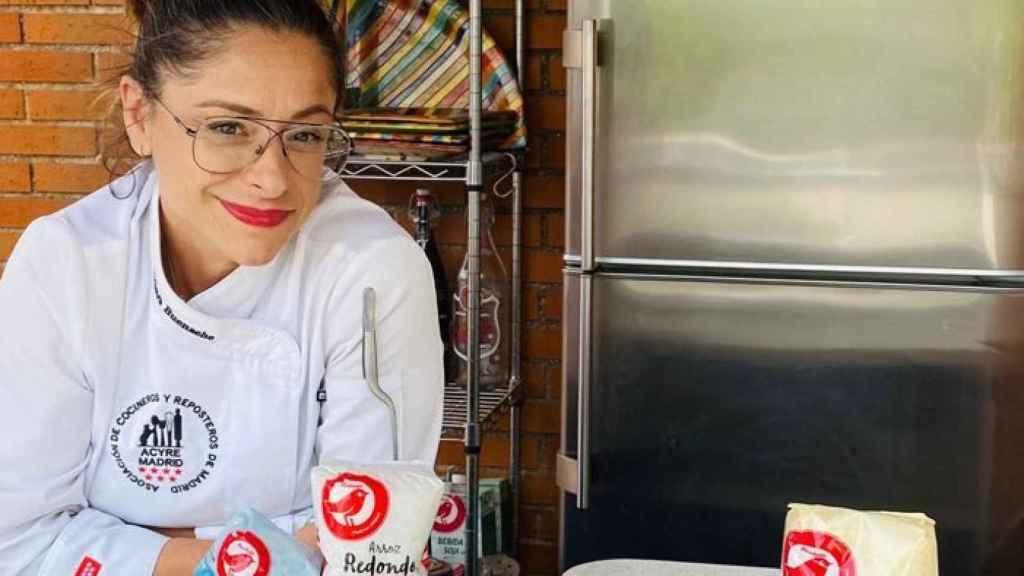 La ensalada de arroz, burrata y rúcula elaborada por Bárbara Buenache.