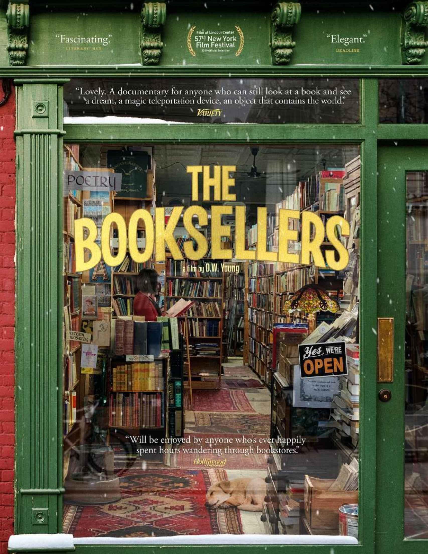 Cartel del documental 'Libreros de Nueva York'.