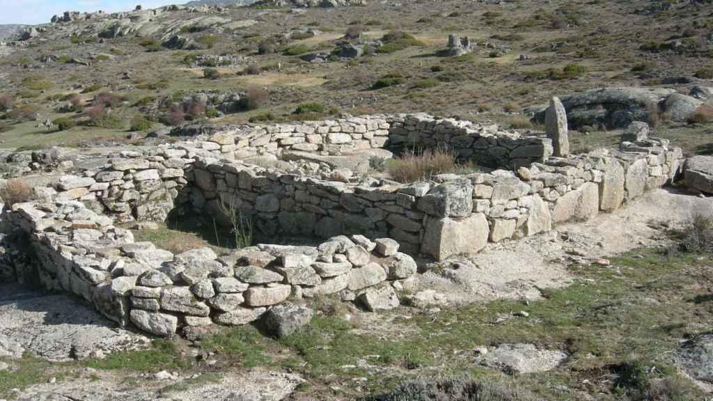Una de las viviendas del yacimiento.