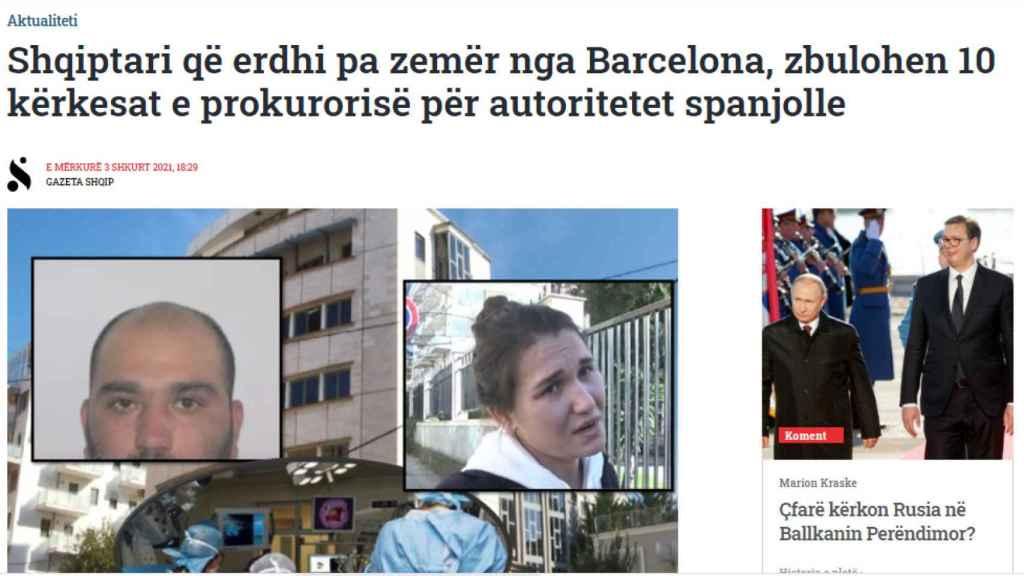 Los medios albaneses, haciéndose eco de la noticia