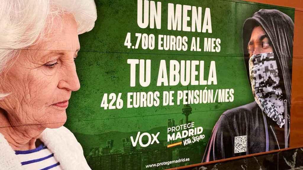 Cartel electoral de VOX que denunció la Fiscalía por un posible delito de odio.