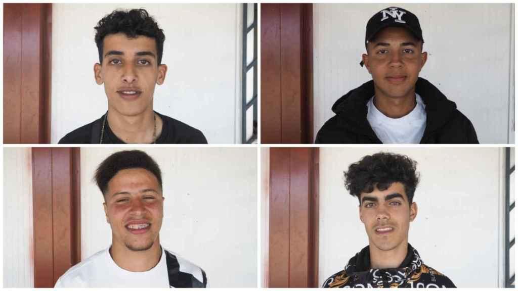 Otros cuatro de los 140 extutelados marroquíes que trabajan en la campaña de recogida de la fresa.