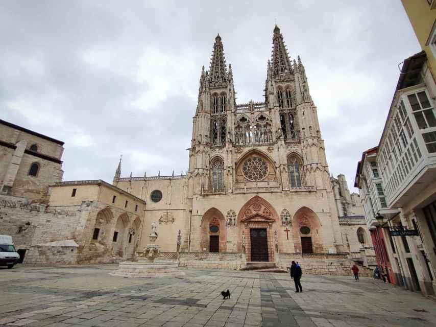 La plaza de Santa María, entrada principal a la catedral.