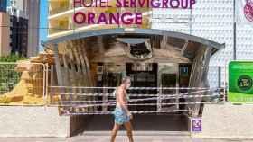 Hotel cerrado en Benidorm, el pasado verano.