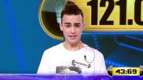 Borja Santamaría es concursante central de '¡Ahora Caigo!' desde el 7 de abril.