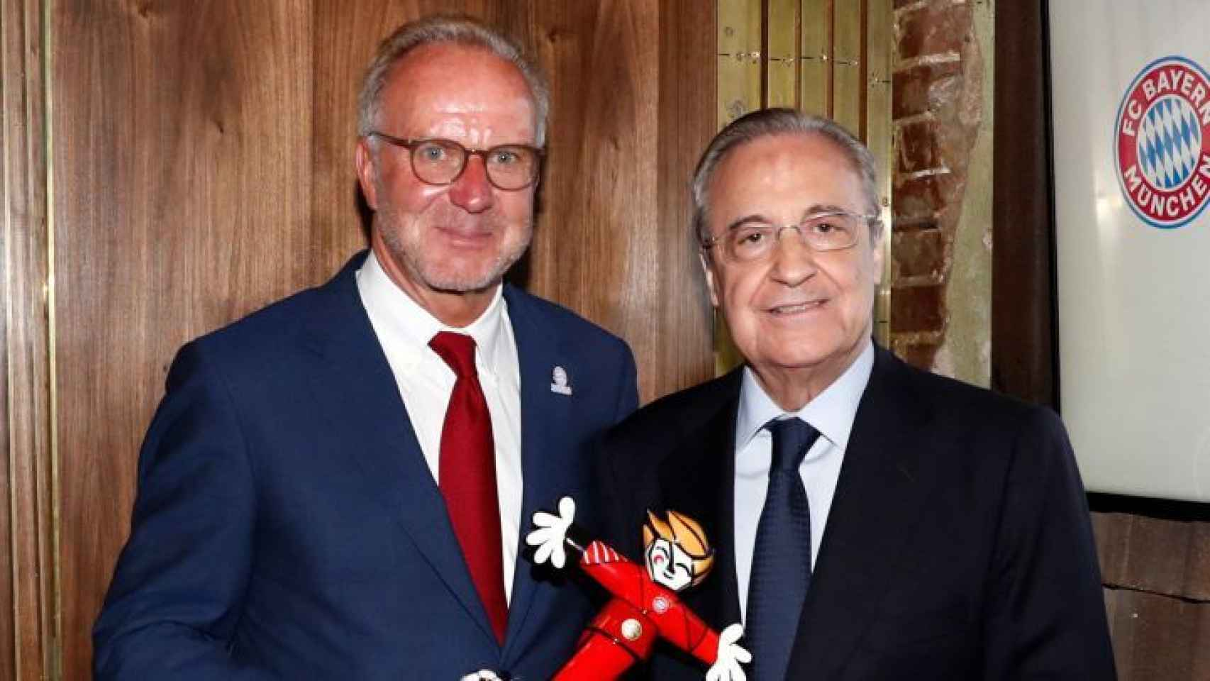 Rummenigge y Florentino Pérez