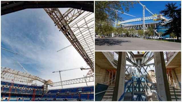 Obras Santiago Bernabéu: las imágenes de la cubierta que toma forma y los otros grandes avances