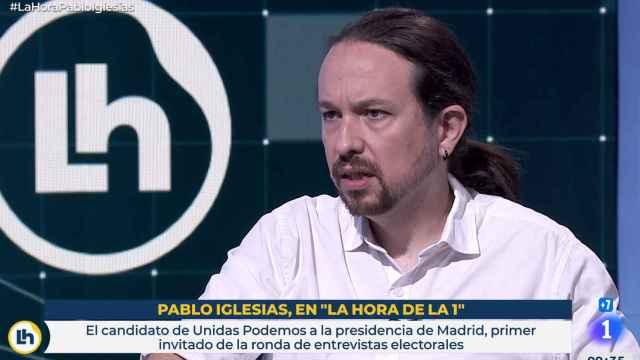 Pablo Iglesias, candidato de Podemos a la Presidencia de la Comunidad de Madrid, en TVE.