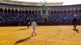 Plaza de toros de la Maestranza en un festejo de su feria de Abril.