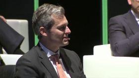 Andrés Allende durante una conferencia con inversores de Cobas.
