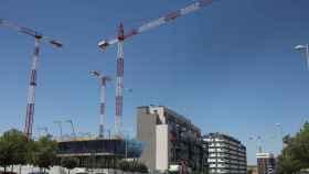 Imagen de recurso de un edificio residencial en construcción.