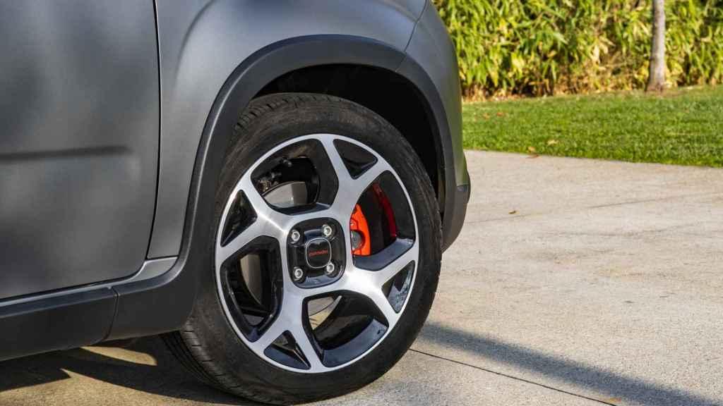 Detalle del Fiat Panda con hibridación ligera.