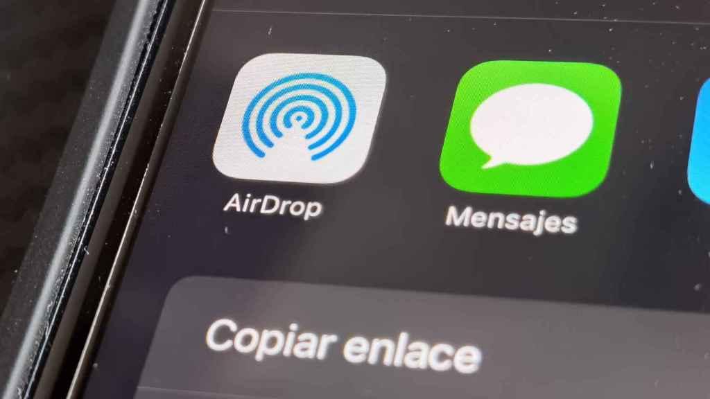 AirDrop en un iPhone