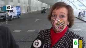 Captura del vídeo de la reacción viral de la mujer.