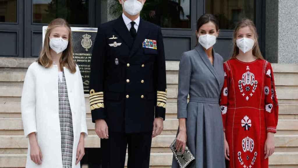 La Familia Real en Cartagena este pasado jueves.