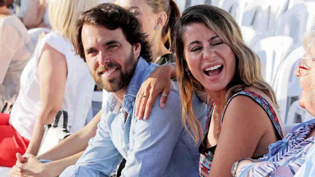 Javier Ungría y Elena Tablada, durante un evento de moda en Málaga.