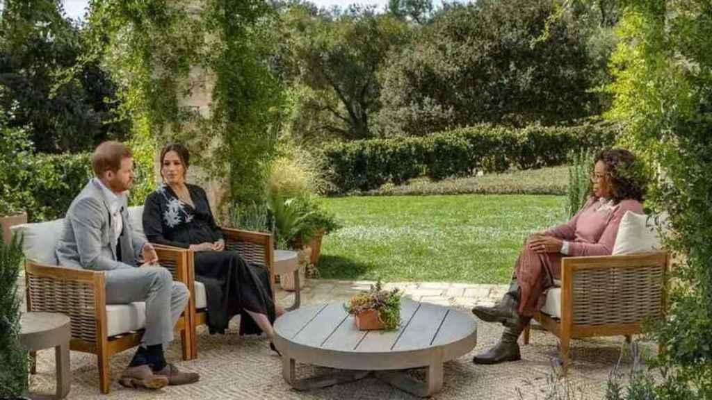 Los duques durante la conversación con Oprah.